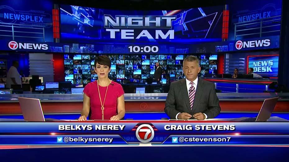 Belkys Nerey & Craig Stevens at Night News Team