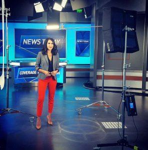 Nicole Gomez at NBC 7 Studio