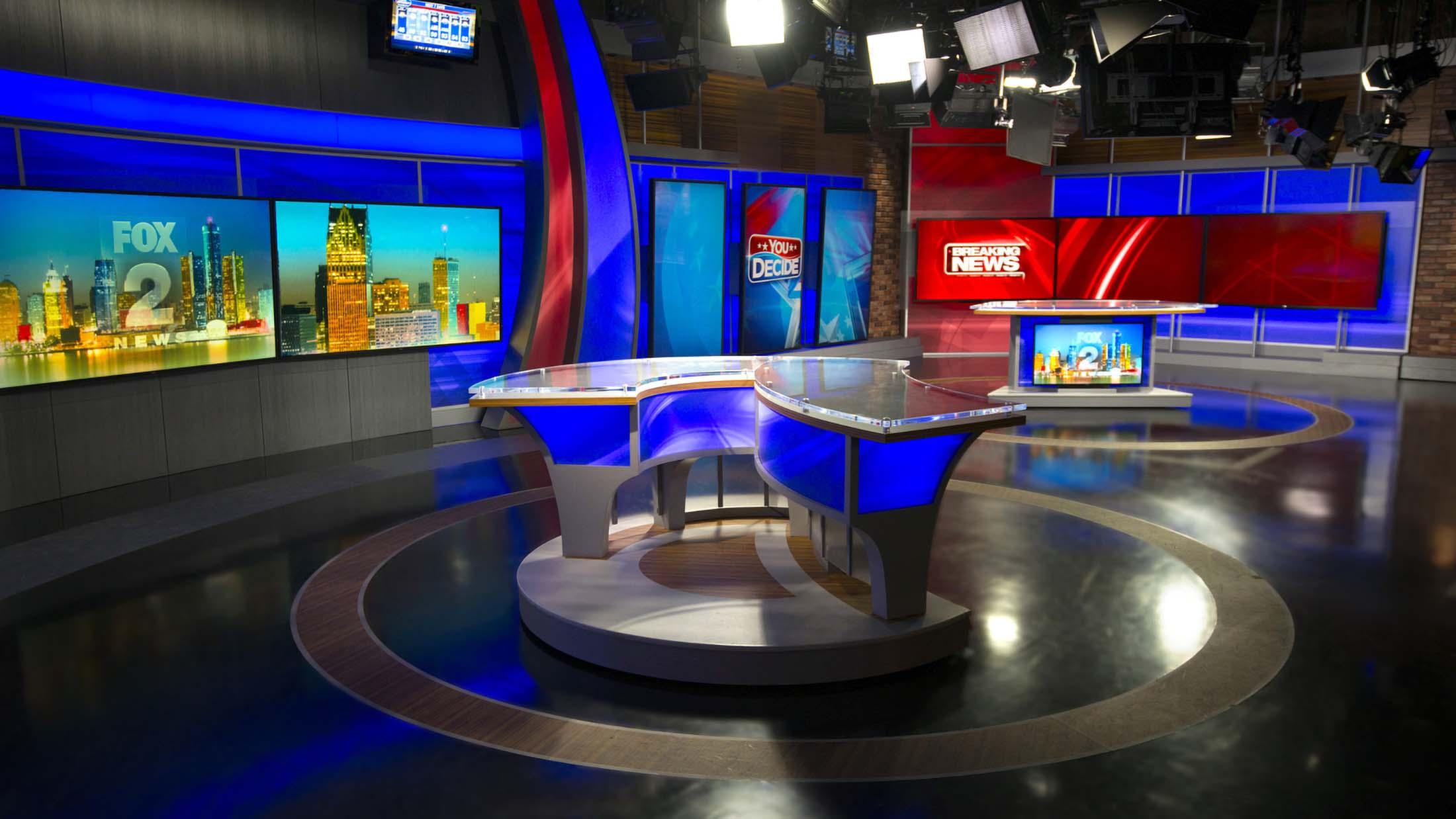 Fox 2 News Detroit studio