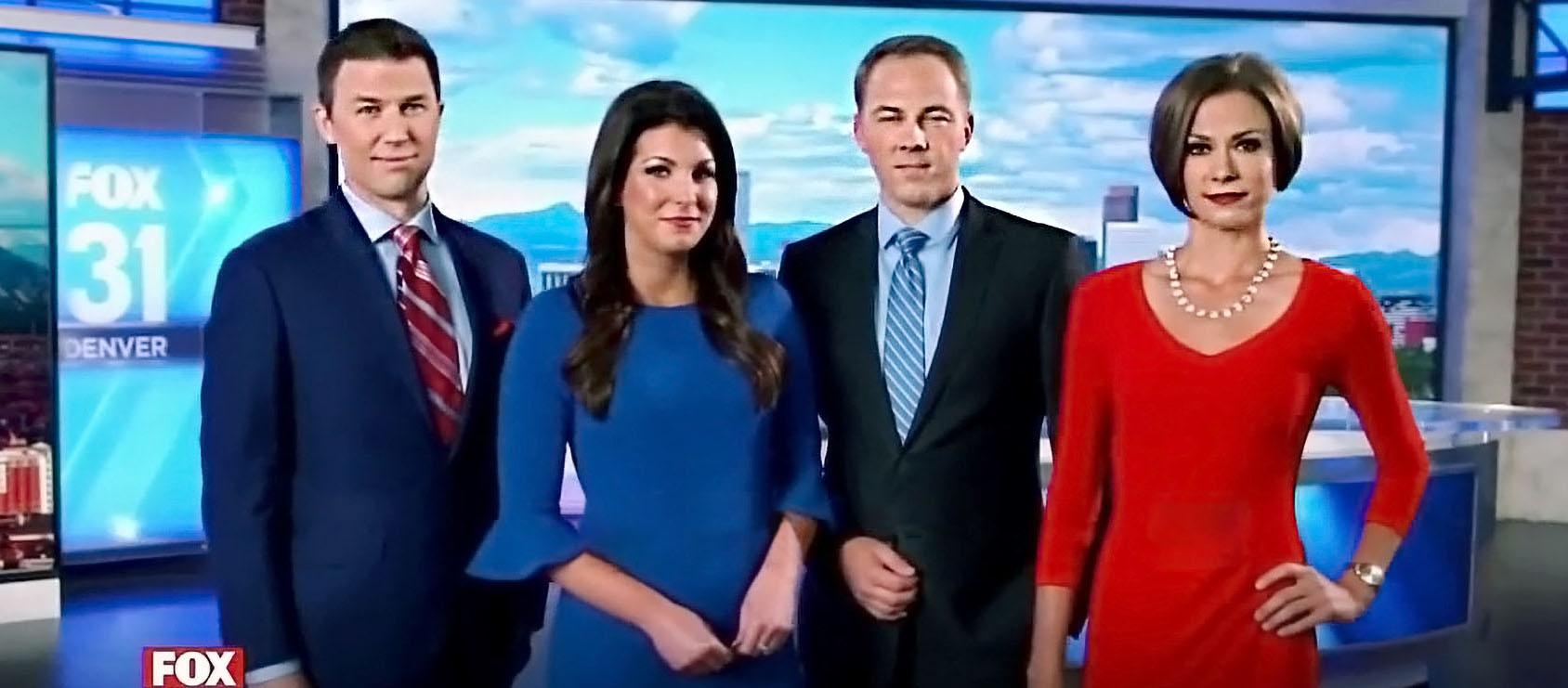 Brooks Garner, Megan O'Halloran, Kirk Yuhnke,and Sam Boik at Fox News Denver