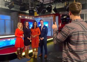 Jessica Pash with other anchors