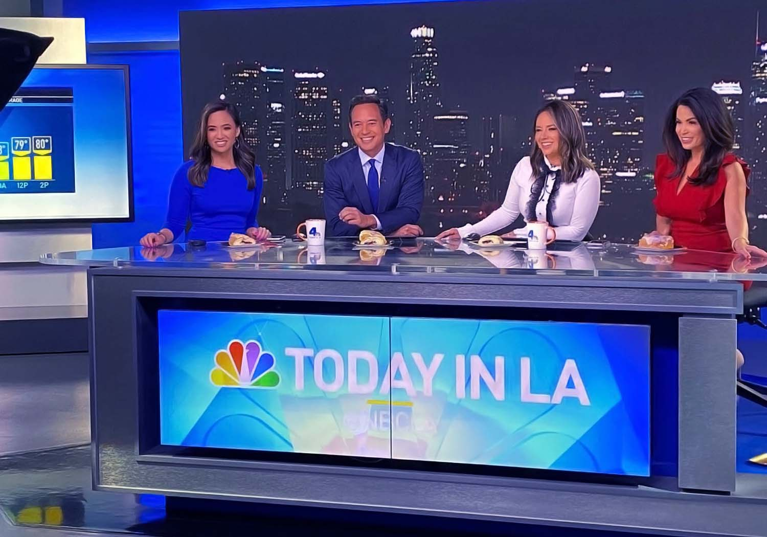 Alysha Del Valle with other anchors
