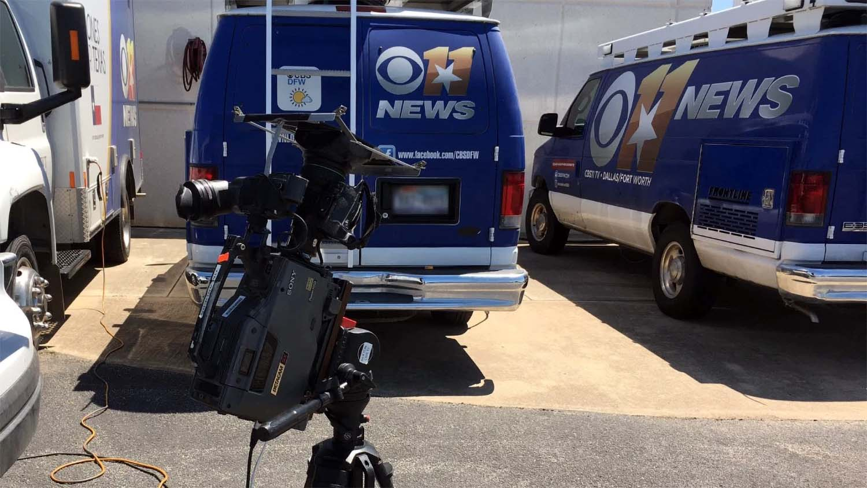 CBS 11 News van