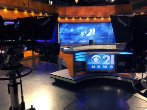 CBS 21 News studio