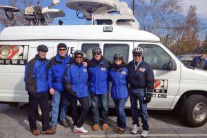 CBS 21 News Team with News Van