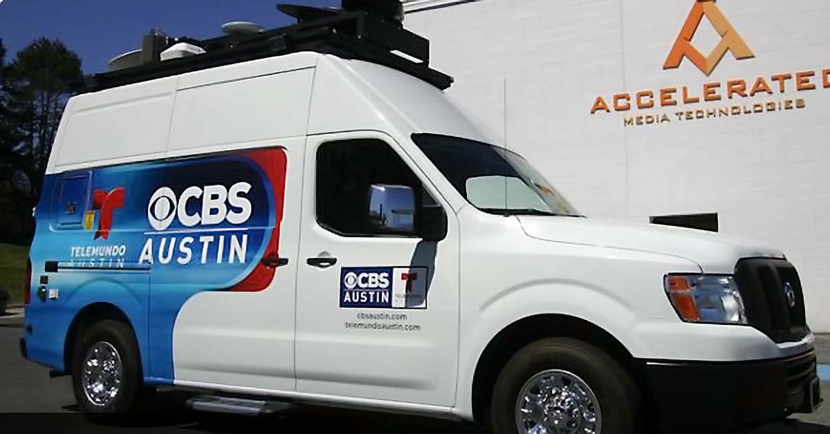 CBS Austin news van