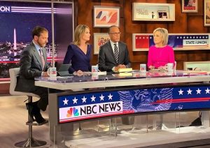 Chuck Todd, Savannah Guthrie, Lester Holt, and Andrea Mitchell