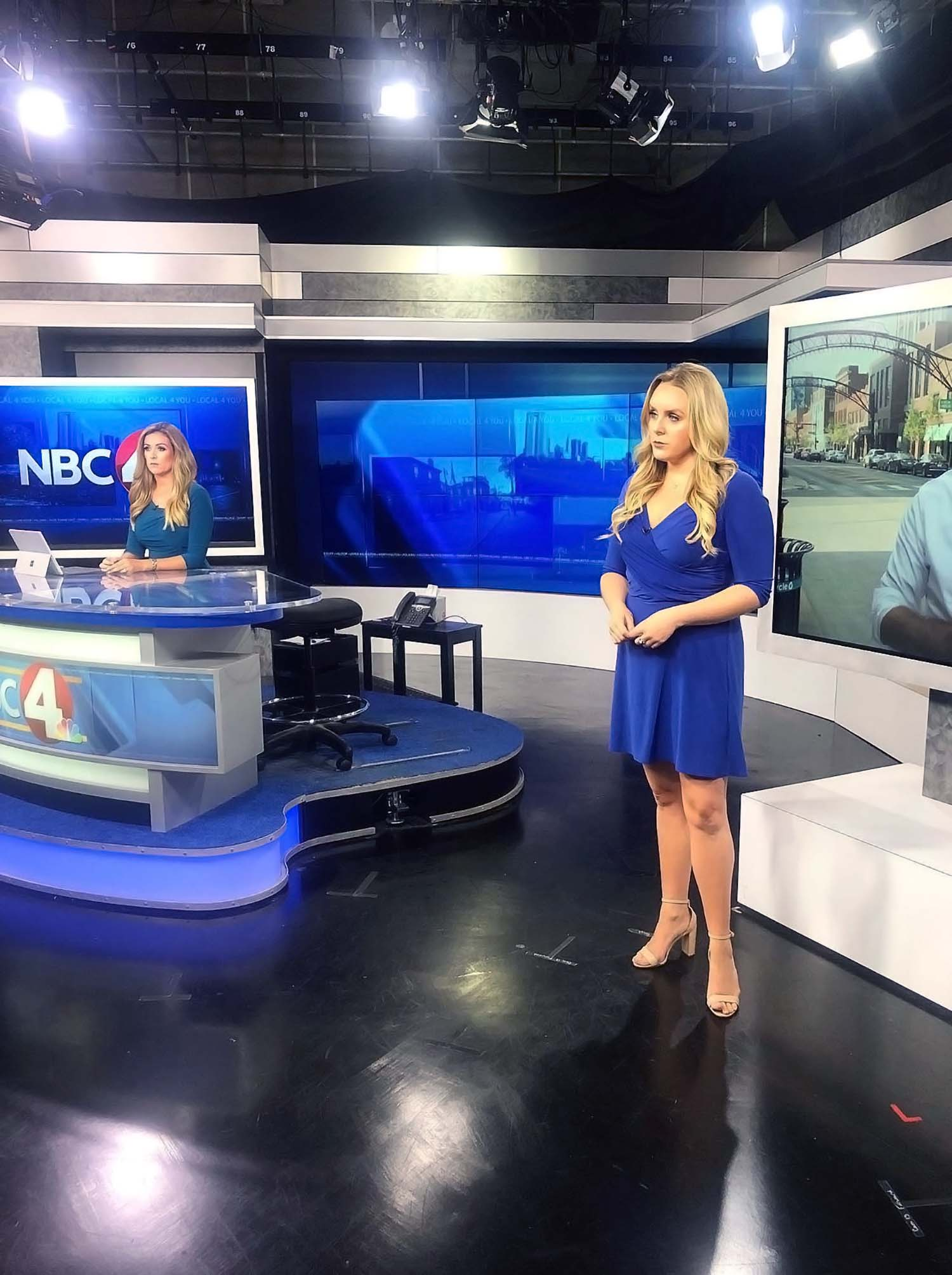 Danielle Aitable at NBC 4 studio