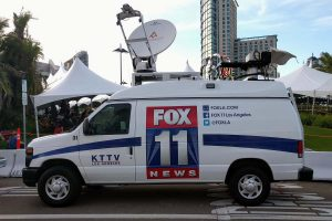 Fox 11 News Los Angeles DSNG Van for Live Streaming