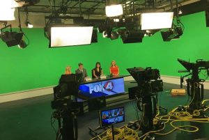 Fox 4 anchors at studio