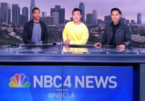 Gene Kang with other NBC 4 Los Angeles anchors