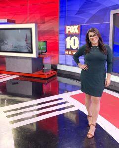 Jennifer Martinez at Fox 10 studio
