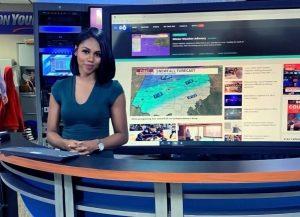 Jordyn M. Dunlap on set of ABC 6 News