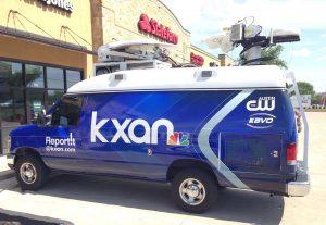 KXAN satellite van