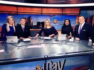 Katie McKee, Kurt Ludlow, Jessica Ralston, Alissa Henry, and Andrew Buck Michael sitting at ABC 6 News