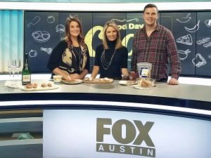 Lauren Petrowski with other anchors on morning show