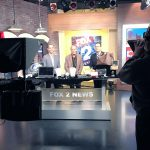 Les and Seth Gold at Set for Fox 2 Detroit Live Stream