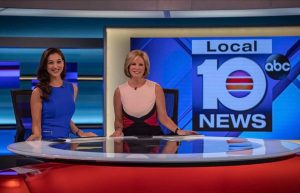 Local 10 News anchors at live studio