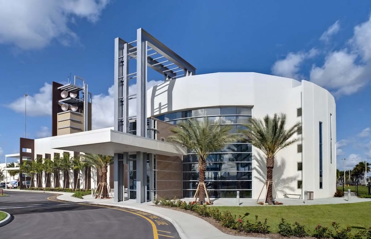 Local 10 News studio building located at 3401 W Hallandale Beach Blvd, Hollywood, FL 33023