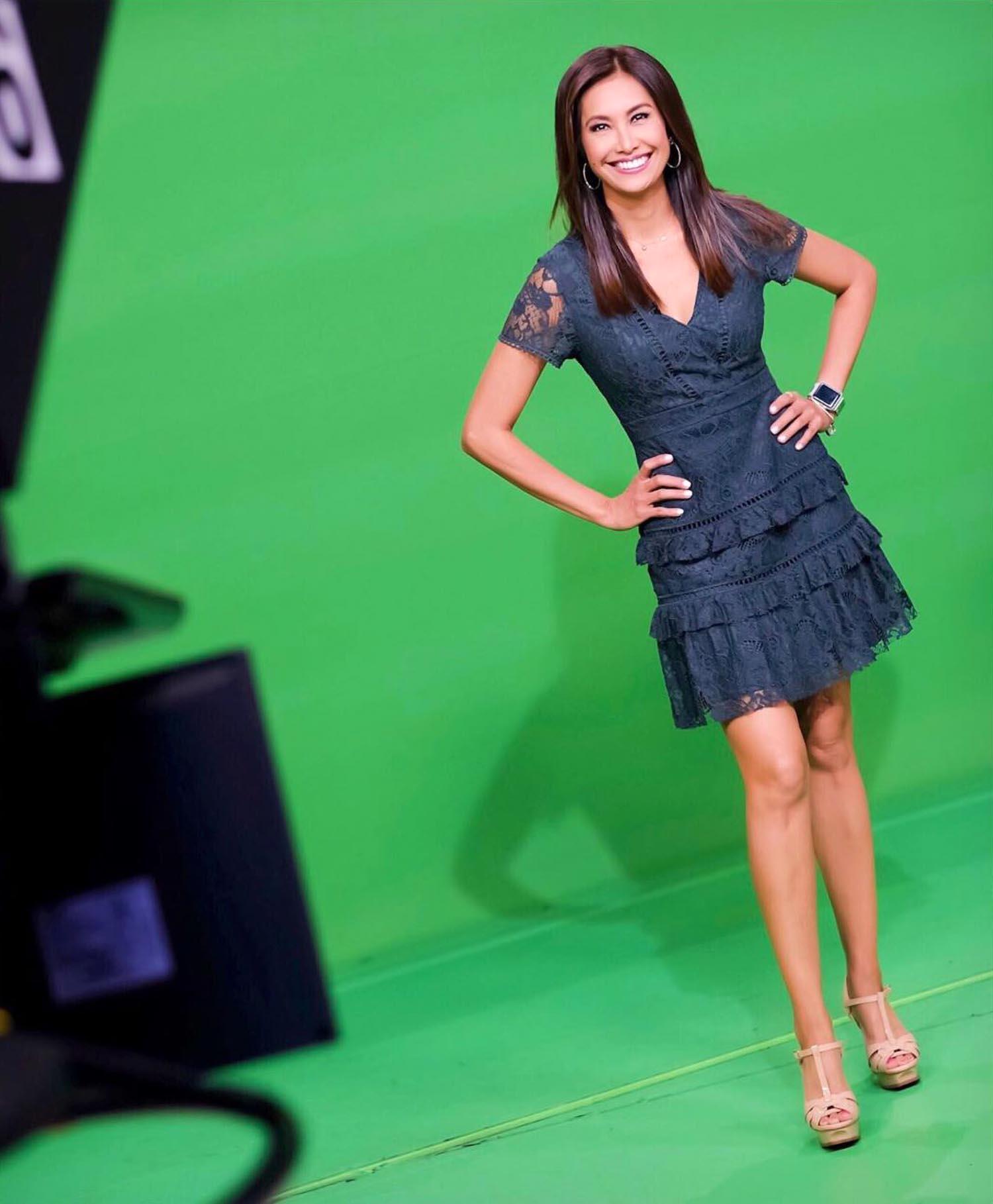 Maria Quiban on green screen