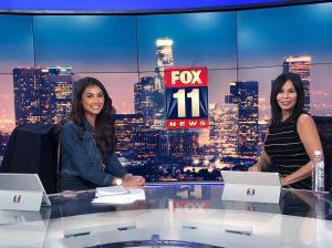 Mylie Valdovinos with Laura Diaz on set