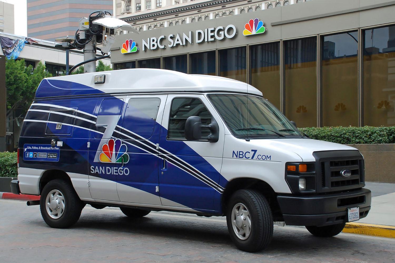 NBC 7 DSNG News Van