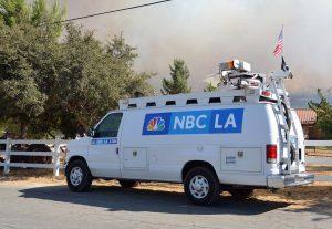 NBC Los Angeles news van