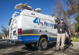 NBC 4 Los Angeles satellite van