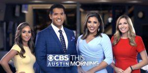 Sophia Stamas, John-Carlos Estrada, Allison Miller, and Nicole Hartford of CBS Austin