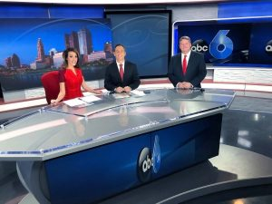 Stacia Naquin with other newscasters at ABC 6 News