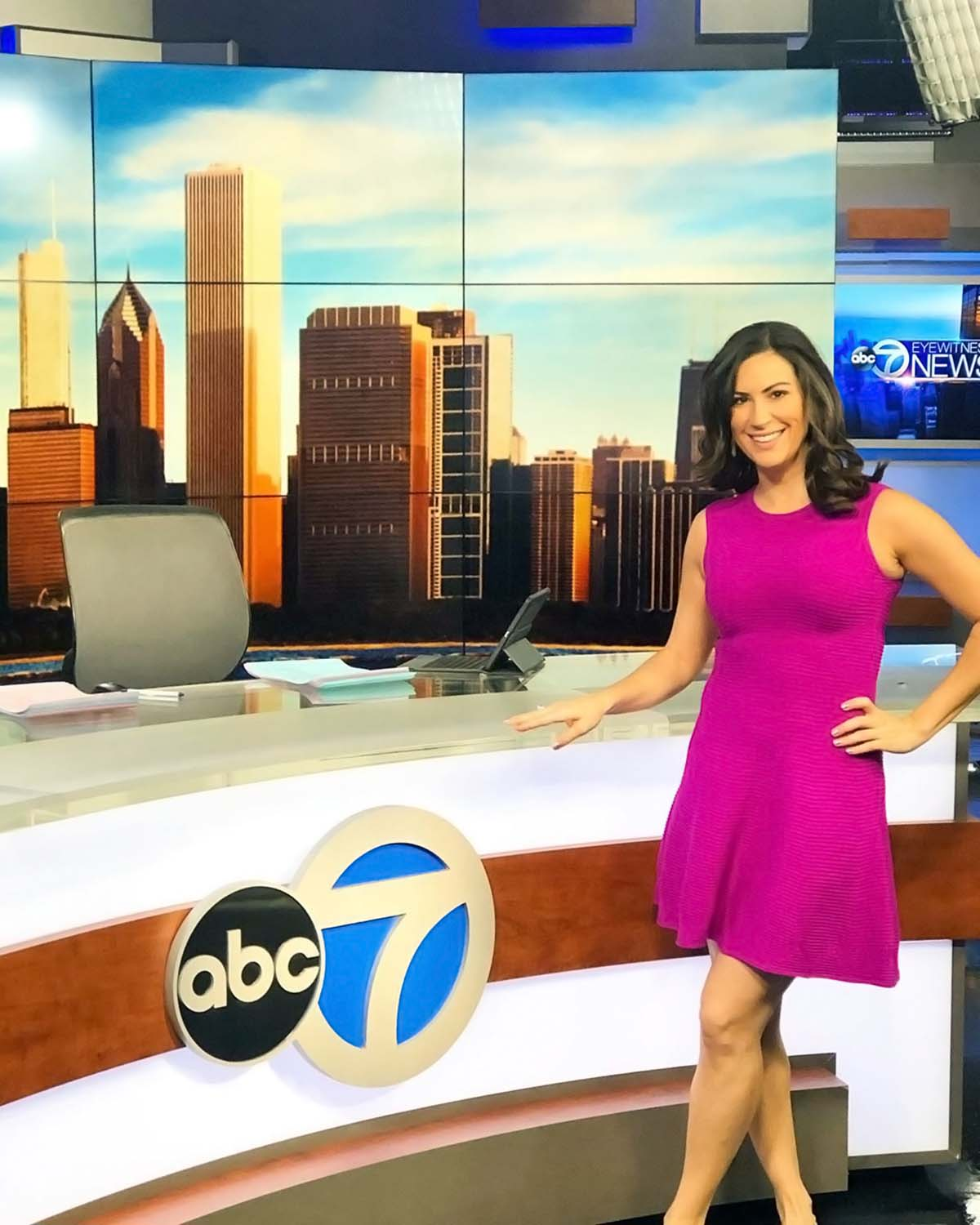 Stephanie Mansour at ABC 7 Chicago