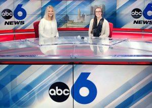 Tori Kohl with Jack casting news at ABC 6 News
