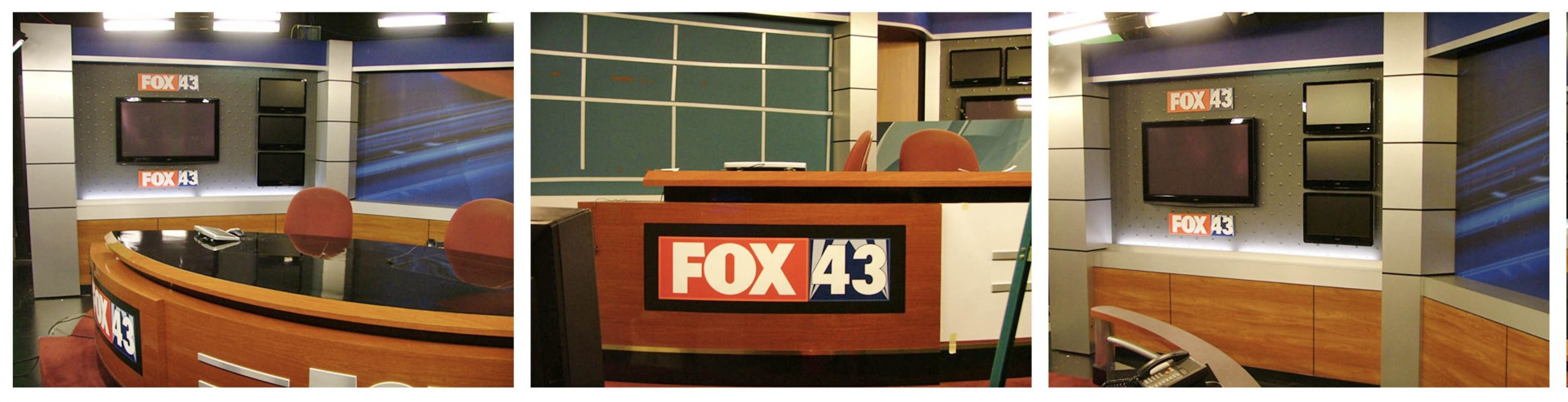 WPMT Fox 43 Studio waiting for anchor to start show