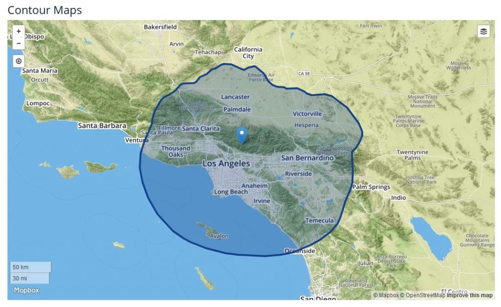 NBC 4 Los Angeles KNBC coverage area