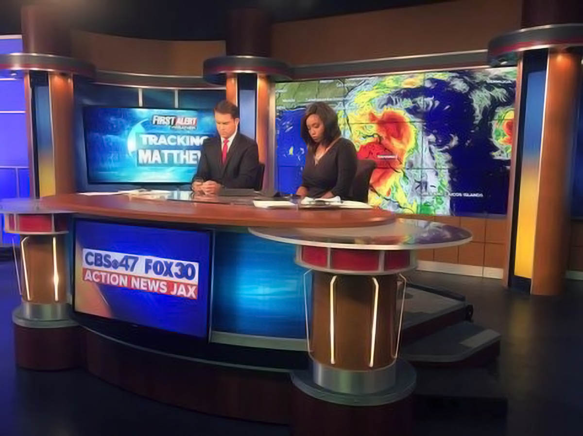 Action News Jax newscasters on set