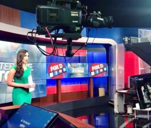 Allie Raffa on set at Fox 13 Tampa
