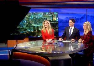 Ambe Dixon Max Darrow and Chloe Beardsley at News 3 Las Vegas Studio