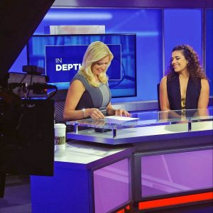 Bay News 9 St. Petersburgh anchors on set
