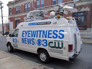 CBS 3 News Philly news van