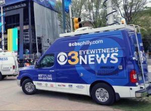 Satellite Van for CBS 3 News Philly