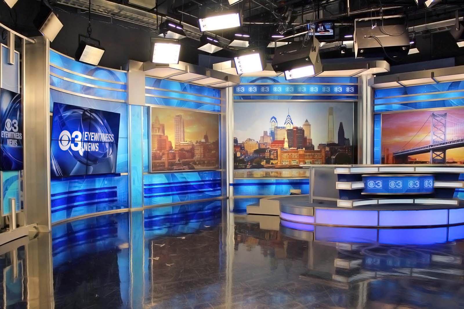 CBS 3 News Philly studio