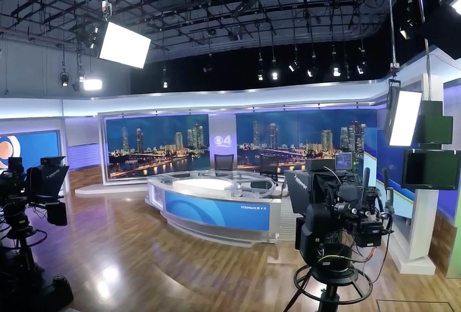 CBS 4 News Miami Live Streaming Studio