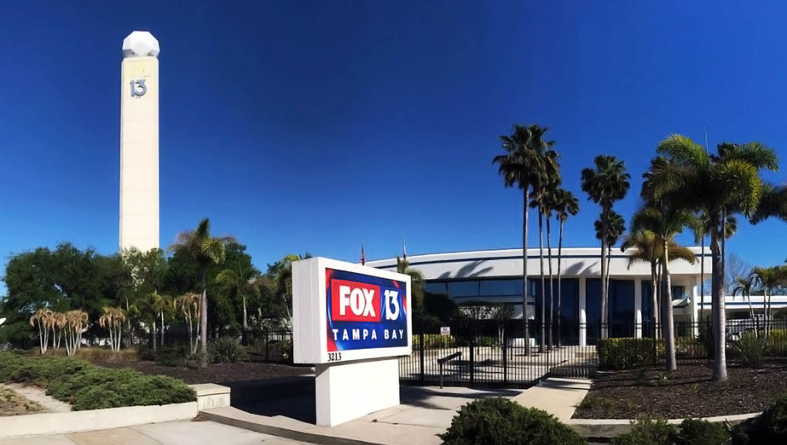 Fox 13 News Tempa Bay Building located at 3213 West Kennedy Blvd.Tampa, FL