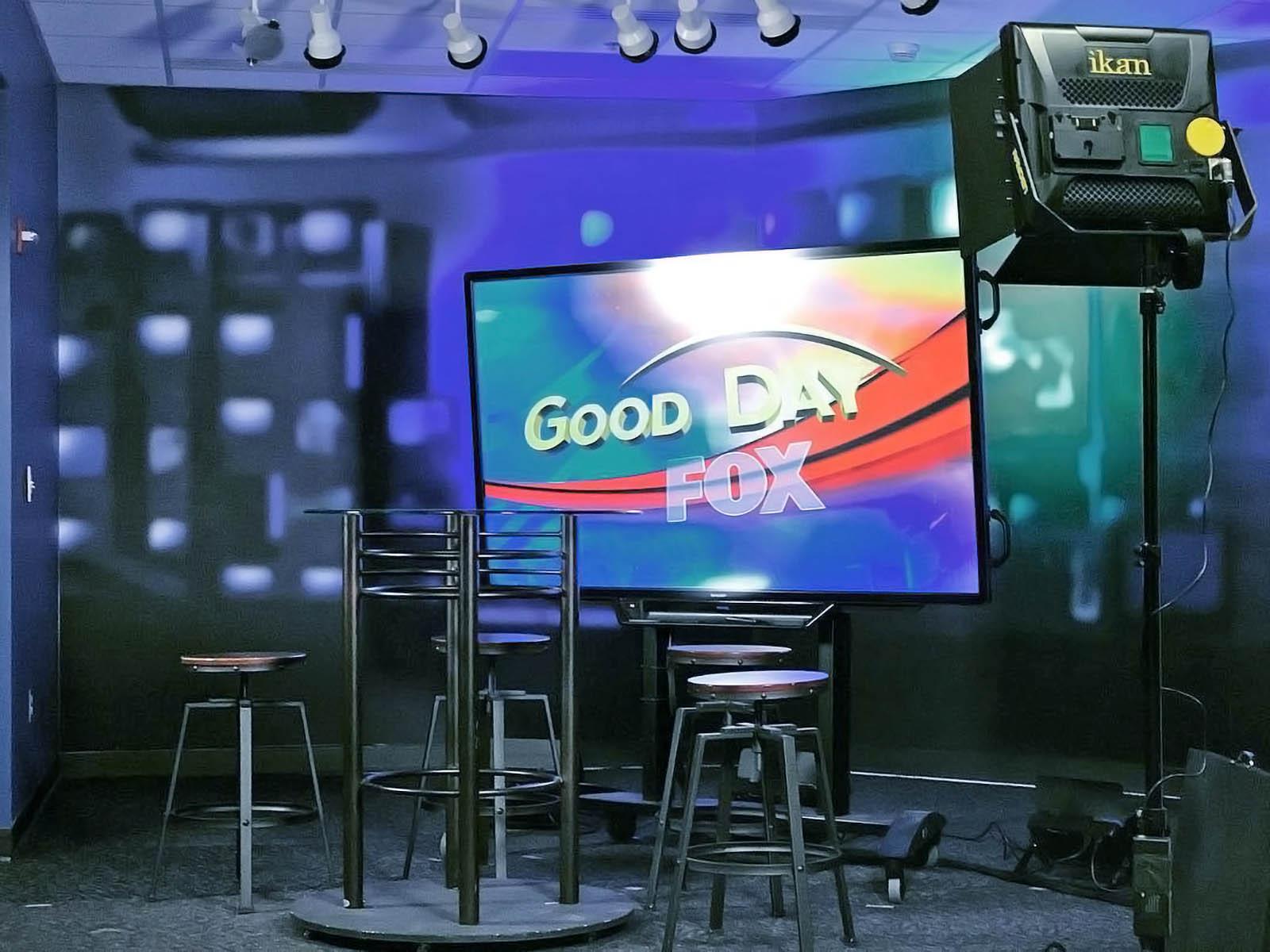 Studio of KAYU TV Morning News