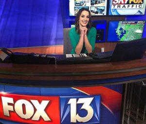 Jennifer Epstein on set of Fox 13 Tampa
