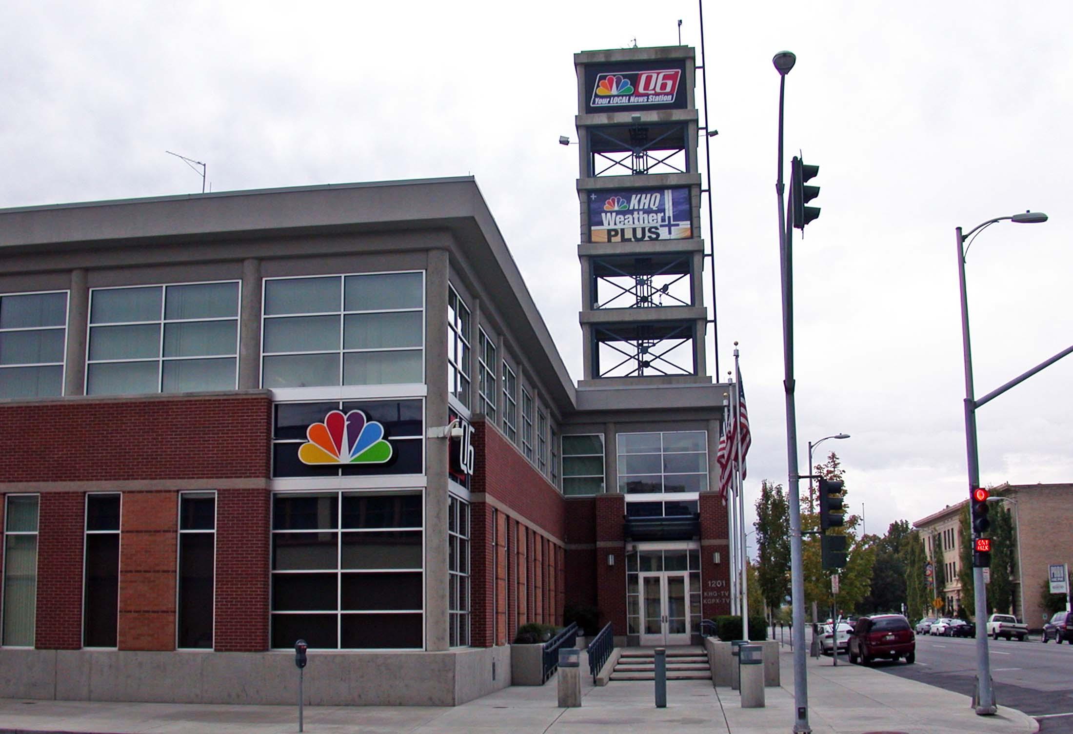KHQ Broadcast Center, located at 1201 W. Sprague Ave. Spokane