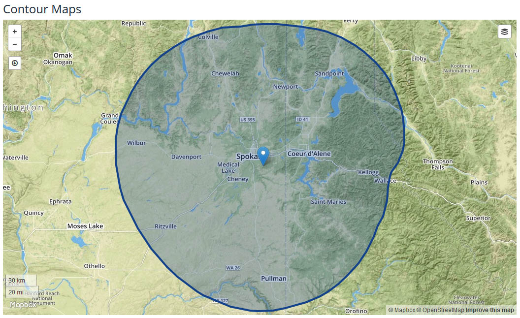KHQ Local News coverage map