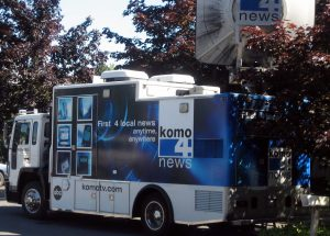 Channel 4 Seattle News truck