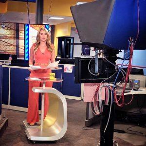Katie Jeffries on camera