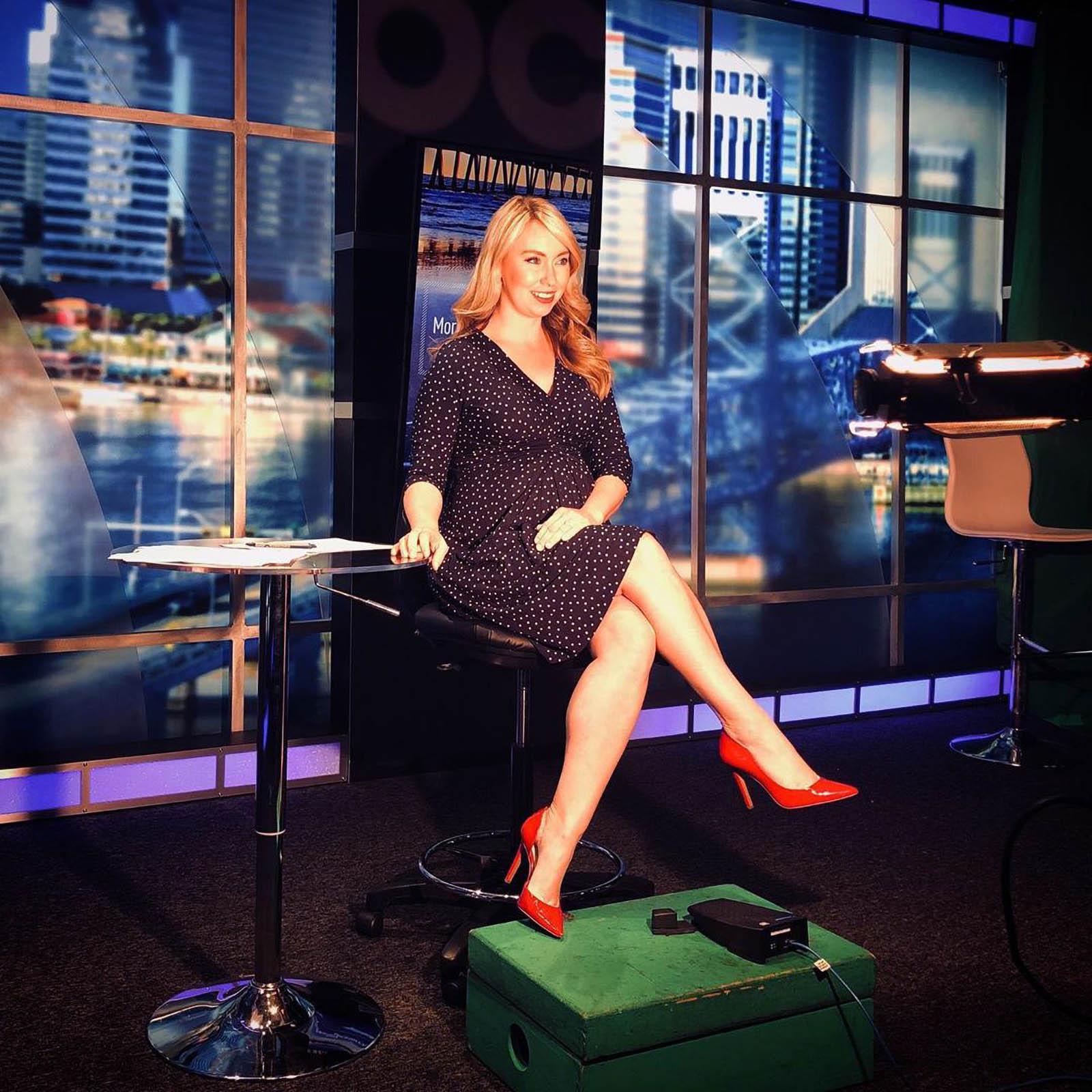 Katie Jeffries on set